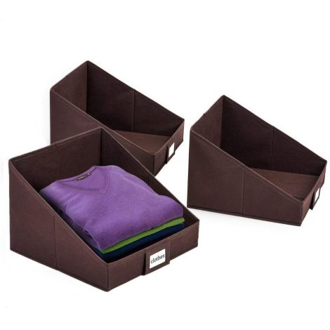 Umi 3 folding boxes for easy clothes storage