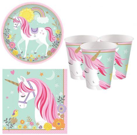 Fancy Me Girls Pretty Pastel Magical Unicorn set party 16pc