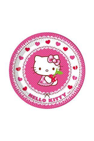 Procos 81791 Hello kitty plates 8pcs Pink/White