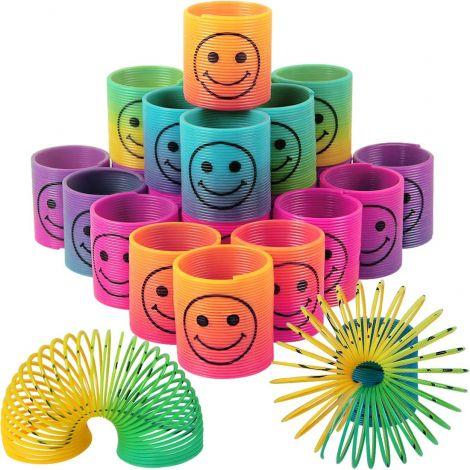 LISOPO Mini Rainbow Spiral Springs (24 Pieces)