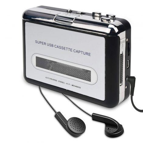 Portable Cassette Player/Cassette to MP3 Converter (BR602)