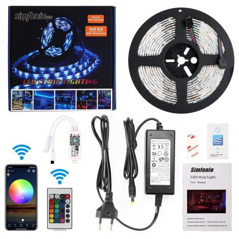 LED Strip Alexa Works with Google Home Ifttt WiFi Wireless Smart Phone Controlled – 5 m 150LEDs