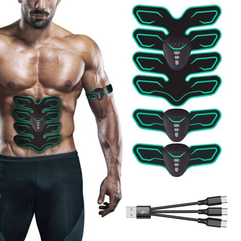 Professional USB Muscle Stimulator Electric Abdominal Trainer (8 Pads)