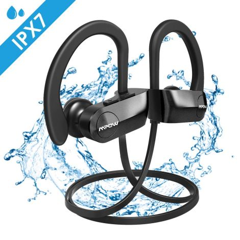 Mpow D7 Bluetooth Headphones Sport IPX7 Waterproof Sports Headphones Wireless Rich Bass