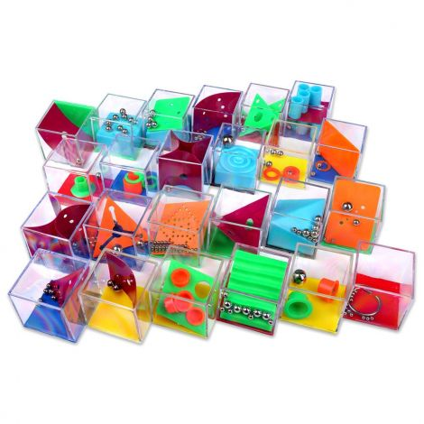 Mini puzzle game for party bags ,pack of 24 wire puzzles