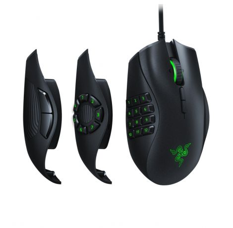 Razer Naga Trinity MOBA RGB V2 Gaming Mouse With 14 Buttons and 16000 DPI, Black