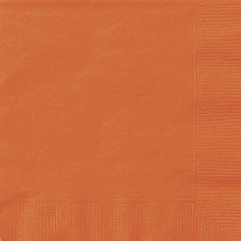 """Χαρτοπετσέτες πορτοκαλί 6,5 """", πακέτο 20 τεμ."""