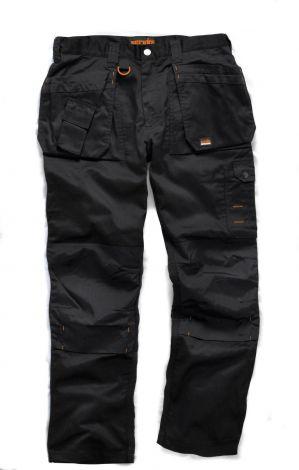 Scruffs Παντελόνι Εργασίας Medium Μαύρο 34