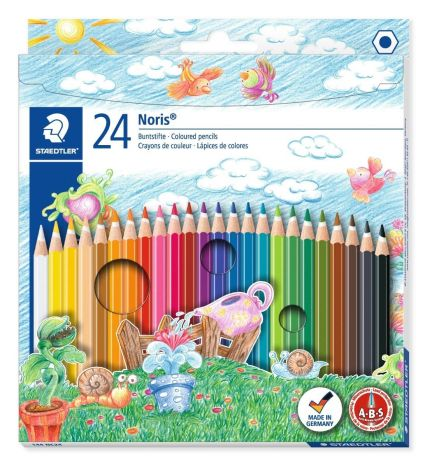 Staedtler Noris Club 144 NC24 Colouring Pencils - Assorted Colours (Pack of 24)