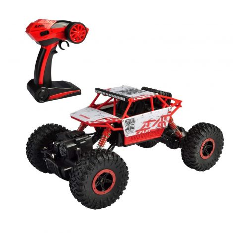 SZJJX P1801 Road Vehicle 2.4Ghz 4WD High Speed 1:18 RC Remote Radio Control Rock Electric Buggy Hobby Car Fast Race Crawler Truck-Red