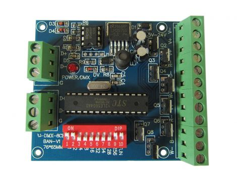 RGBW 8 Channel DMX Controller 2 Group RGBW 8CH Decoder for LED Strip Light