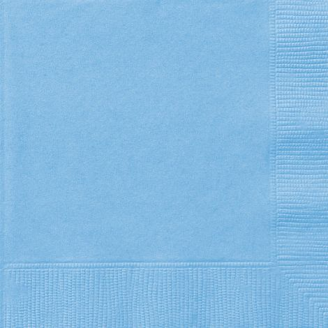 """6.5 """"χαρτοπετσέτες μπλε (baby blue) χαρτί, πακέτο των 20 τεμ."""