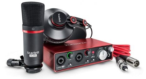 Scarlett 2i2 Studio (2nd Gen) USB Audio Interface and recording bundle with Pro Tools , First