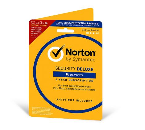 Norton Security Deluxe: 1 User, 5 Devices PC/Android/Mac (Deluxe)