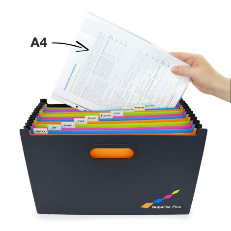 Rapesco SupaFile Plus A4+ Desktop Expanding File Organiser (Oversized to Fit Folders), 13 Part (1552)