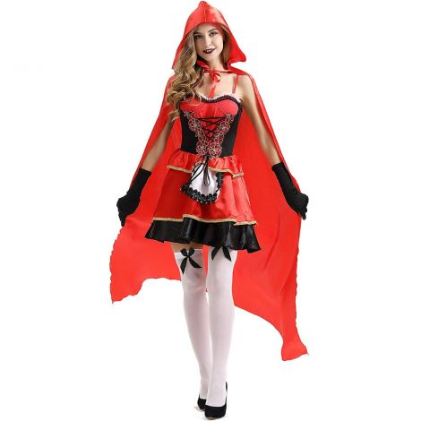 Women's sexy red cloak costume,one size (xs-m)