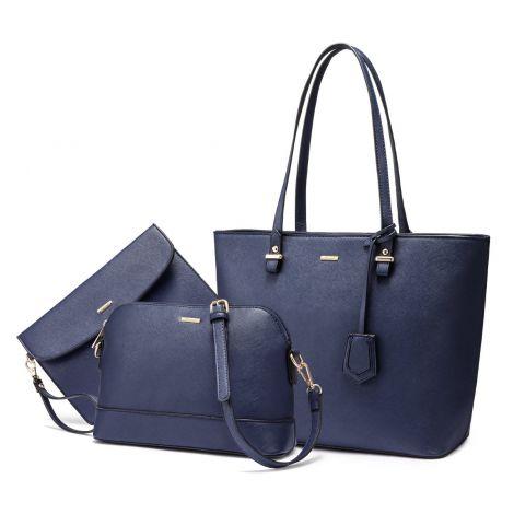 LOVEVOOK Women's shoulder bag set of 3 (blue)