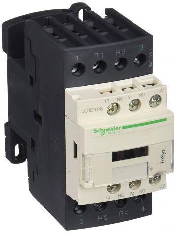 Schneider Electric Contactor 230V 50/60Hz Cont 32A 4Pl 2No 230V50/60Hz (LC1D188P7)