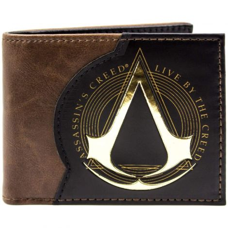 Assassins Creed Live By The Creed Brown ID & Card Bi-Fold Wallet