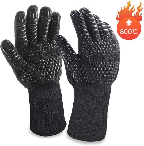 MILCEA bbq gloves,heat resistant up to 800 °C, universal size