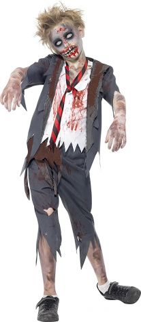 Children's Zombie School Boy Costume, Trousers, Jacket, Mock Shirt and Tie Size:Large, 10-12 years 43022L