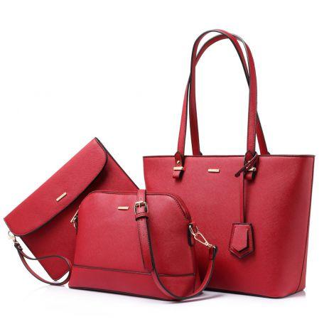 LOVEVOOK Women's shoulder bag set of 3 (red)