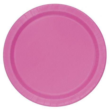 Πιατάκι Party ροζ 18cm, πακέτο των 20