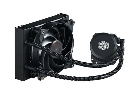 Cooler Master MasterLiquid Lite 120 CPU Liquid Cooler '120mm Radiator, 1x MasterFan Pro 120 AB PWM Fan, White LED' MLW-D12M-A20PW-R1