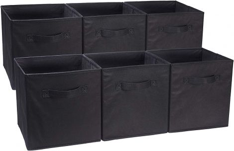 Foldable Storage Cubes (6 Pack) Black