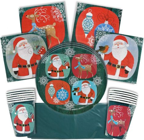 Set patry Christmas for 15 guests (61pcs)