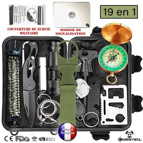 Rescue aid professional survival kit 19 in 1