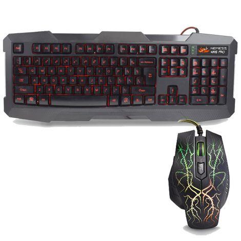 Sumvision LED Πληκτρολόγιο και Ποντίκι για Gaming (Nemesis Kane Pro)