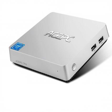 ACEPC T11 Mini PC, Windows 10 Pro 4GB RAM/ 64GB eMMC Intel Atom x5-Z8350 Processor