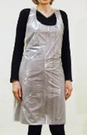 PE apron front white 100pcs
