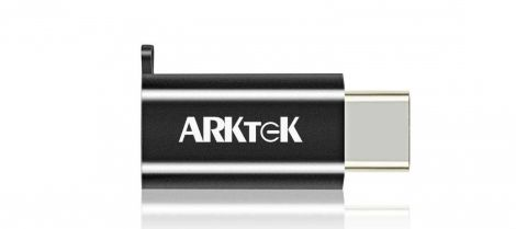 ARKTEK USB Type C (male) to Micro USB (female) Adapter with Keychain