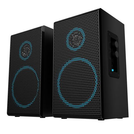 Arion Legacy Deep Sonar 100 AC Powered 2.0 Speakers For Desktop PC Notebook Tablet and Smartphone (ARDS100-BK)