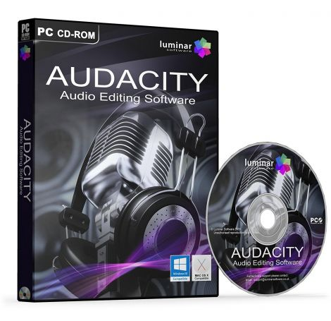 Audacity Professional Studio Audio Editing Software (PC Mac)