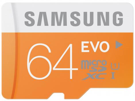 Samsung 64GB EVO MicroSDXC UHS-I Class 10 Κάρτα Μνήμης (MB-MP64D/EU)