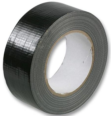 DUCT TAPE STRONG GAFFA GAFFER WATERPROOF CLOTH TAPE BLACK 48MM x 50M