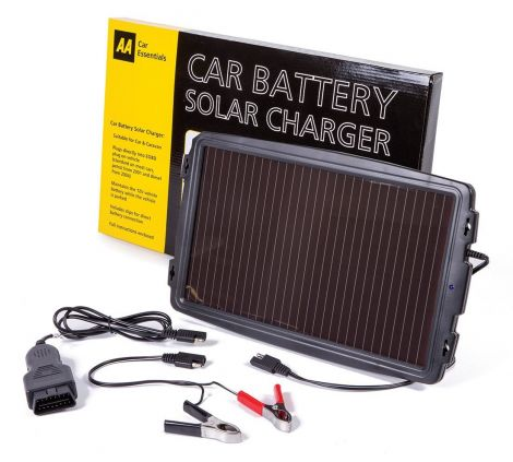 AA Solar-Powered Car Battery Charger
