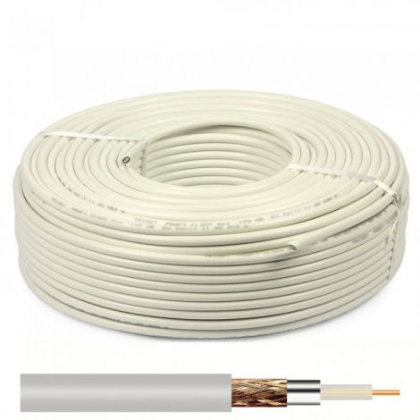 Cable Coaxial RG6U White 100m (18098)