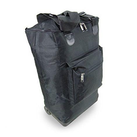 COMPASS Fold Flat Wheelie Bag 35 Litres Black (ST101-BK)