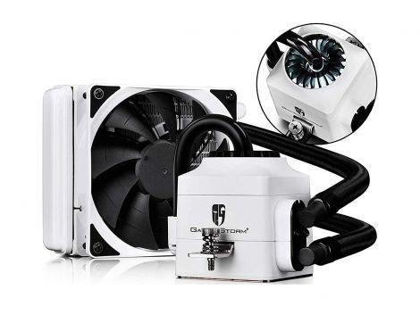 DEEPCOOL Captain 120EX White AIO Liquid CPU Cooler, 120mm Radiator, 120mm PWM Fan, White, AM4 Compatible