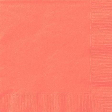 Κοραλί χαρτοπετσέτες 6.5'', συσκευασία των 20 τεμ.