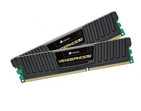 Corsair Vengeance Low Profile 16GB (2x8GB) DDR3 1600 Mhz CL 9 XMP Performance Desktop Memory Kit Black (CML16GX3M2A1600C9)