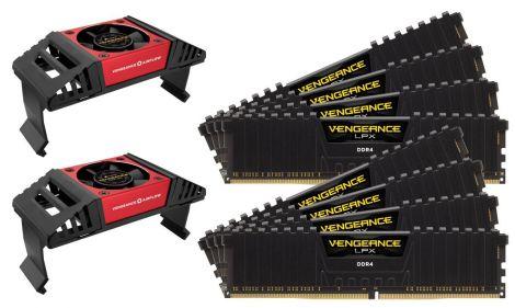 Corsair Vengeance LPX 64 GB (8 x 8 GB) DDR4 3600 MHz C18 XMP 2.0 High Performance Desktop Memory Kit with Airflow Fan, Black (CMK64GX4M8X3600C18)