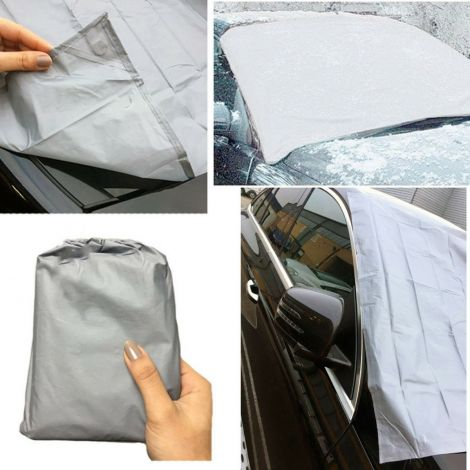 Magnetic car windscreen cover Protection All season 162cm x 96cm (Grey)
