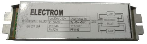 Electrom Electronic Ballast 2 x 36 W (T8)