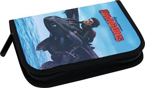Pencil Case filled 27 Pieces DreamWorks Dragons (51001)