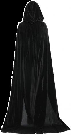 DreamU Cloak with Hood Costume Crushed Velvet Hooded Cape Cosplay  (XL-170CM)